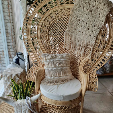 Large Rattan Queens Chair - Canggu & Co