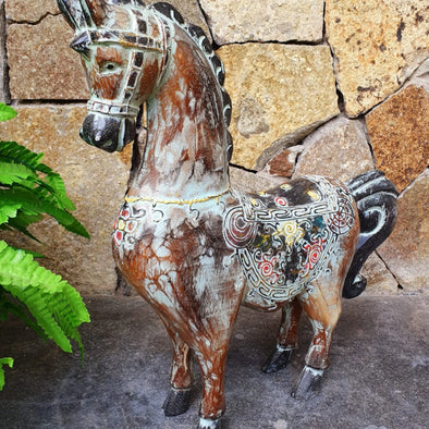 Antique Carved Wooden Ponies - Canggu & Co