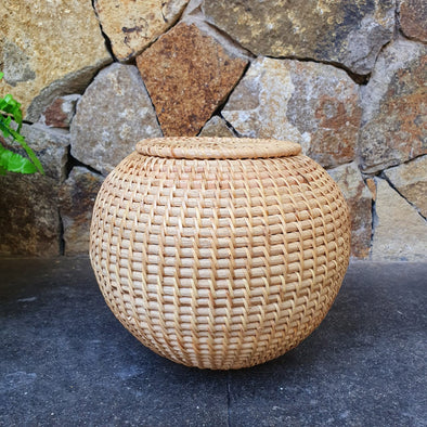 Round Rattan Bowl Decor - Canggu & Co