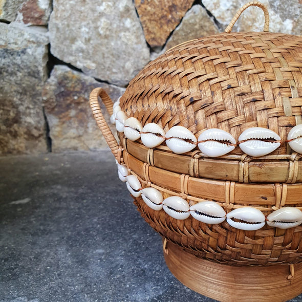 Round Bamboo Box With Lid - Canggu & Co