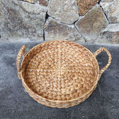 Round Woven Banana Leaf Tray Sets - Canggu & Co