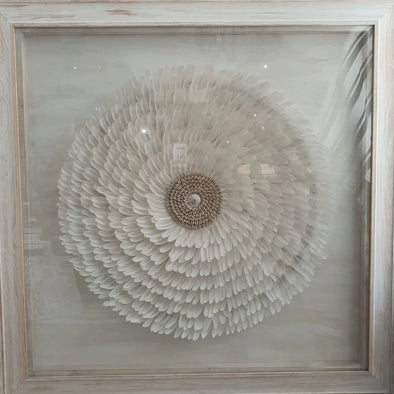 Juju Feather Decor With Frame - Canggu & Co