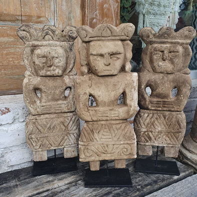 Timorese Wooden Statues - Canggu & Co