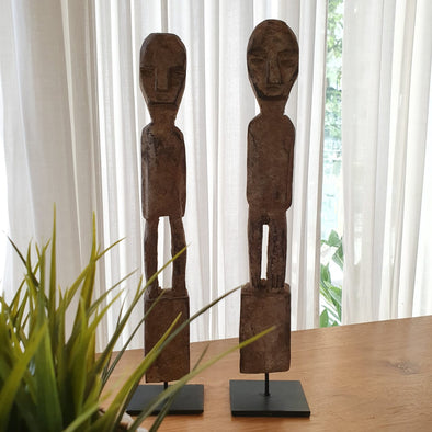 Tribal Carved Wooden Man Decor - Canggu & Co