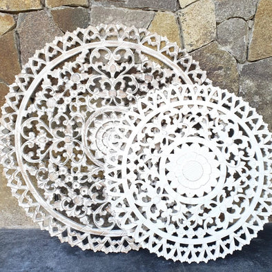Round Wall Panel Carvings - Canggu & Co