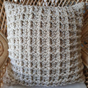Natural Woven Macrame Cushion