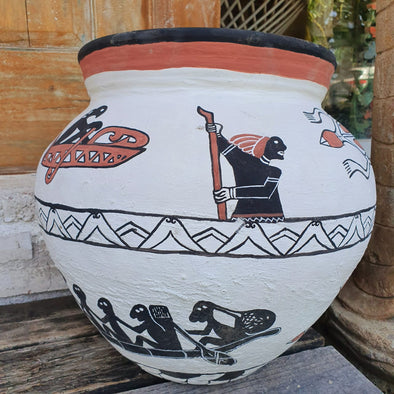 Large Terracotta Tribal Pot - Canggu & Co