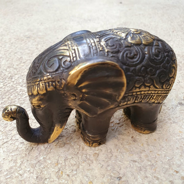 Antique Rustic Brass Elephants - Canggu & Co