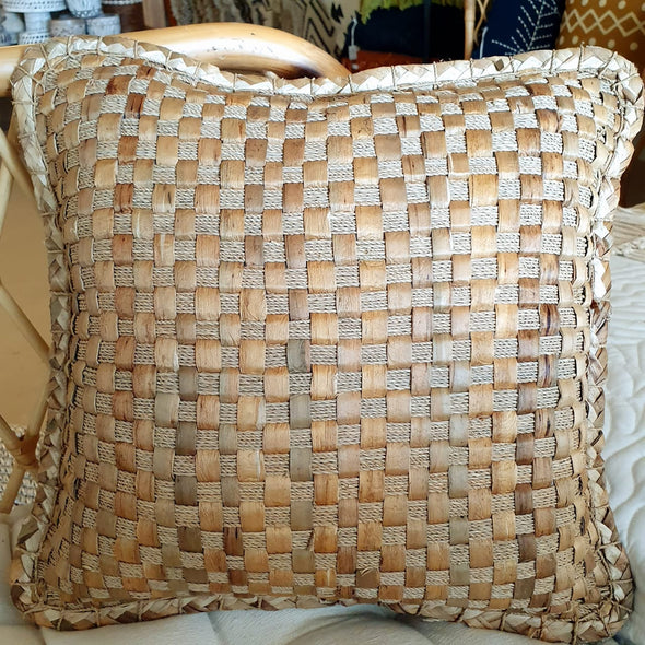 Woven Banana Leaf Cushion