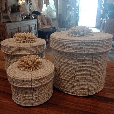 Round Beaded Box Sets