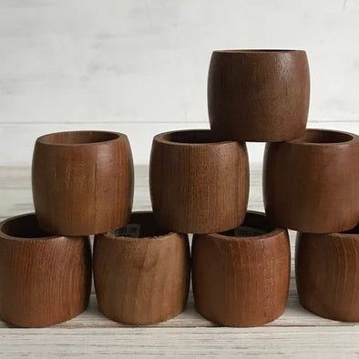 Plain Hard Wood Napkin Rings - Canggu & Co