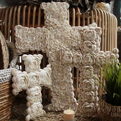 Cross Shaped Shell Decor - Canggu & Co