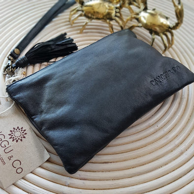 Small Multi-Color Very Soft Leather Clutches With Tassel