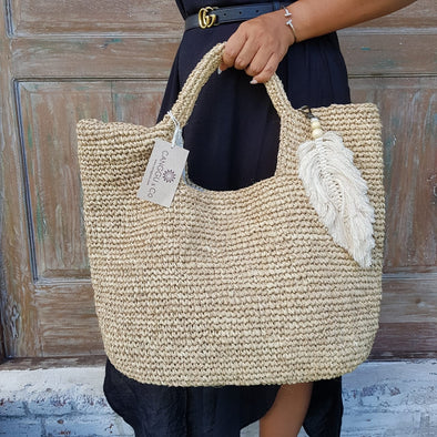 Natural Woven Straw Grass Bag - Canggu & Co