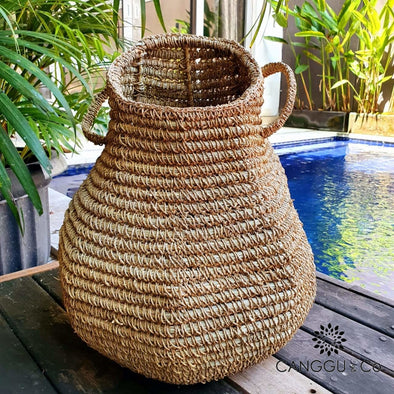 Large Natural Woven Straw Grass Baskets Basket