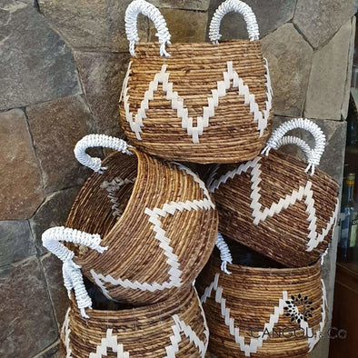Round Banana Leaf Baskets Basket