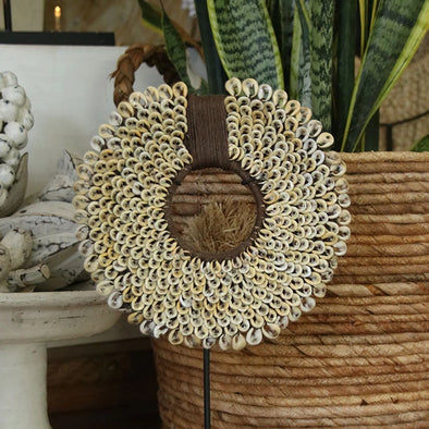 Coffee Bean Sea Shell Circular Decor - Canggu & Co