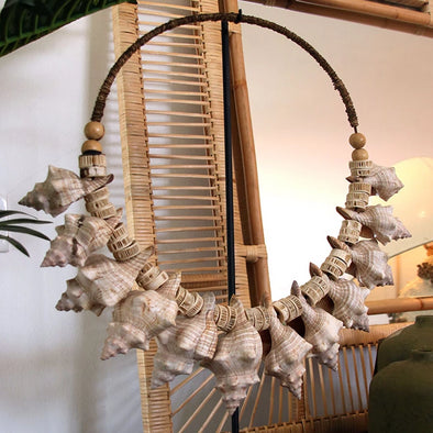 Large Spiral Sea Shell Circular Decor - Canggu & Co