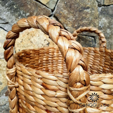 Tall Natural Water Hyacinth Basket Sets Small