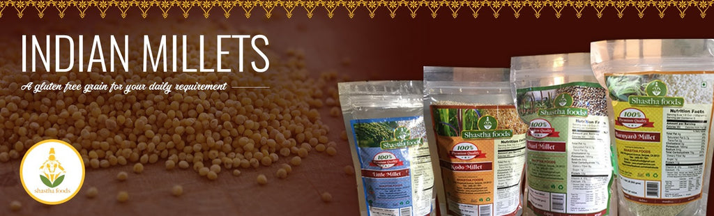 Millets gluten free grains