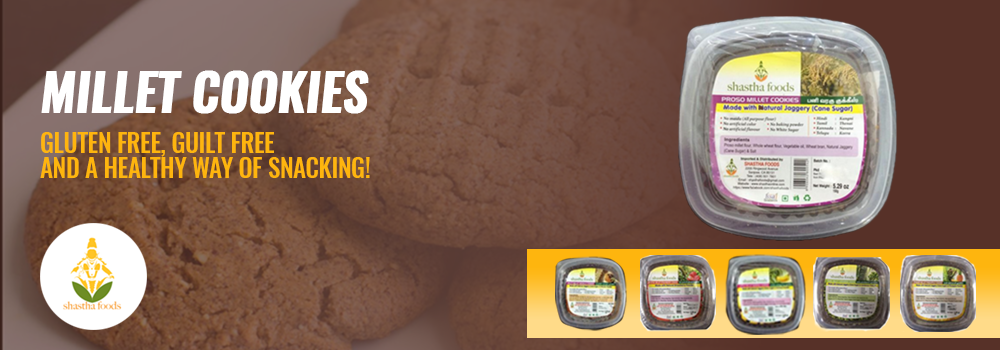 Millet Cookies for guilt free snacking