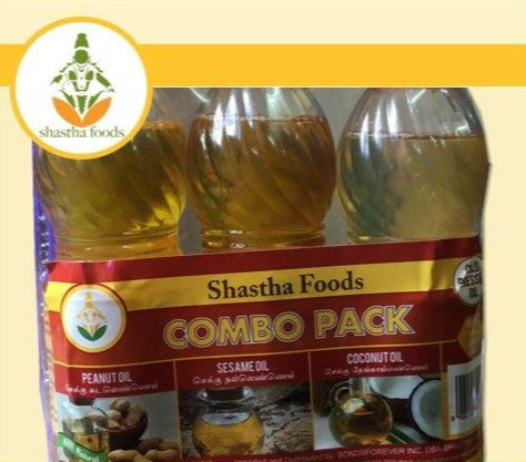 Shastha Chekku Oil (Cold Pressed Oil) Combo Pack (200 ml x 3 Nos)