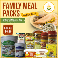 Shastha 5 Meals - Family Pack -   ONLY For Customers within 45 Miles from Sanjose -
