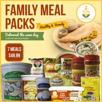 Shastha 7 Meals - Family Pack -   ONLY For Customers within 45 Miles from Sanjose