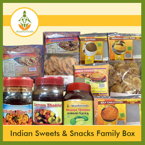 BUNDLE - 11 ITEMS ( Indian Sweets & Snacks FAMILY BOX )