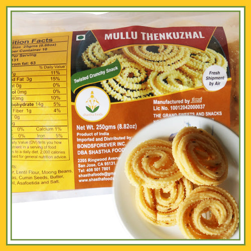 Grand Sweets & Snacks - Mullu Thenkuzhal (250 Gms)