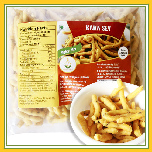 Grand Sweets & Snacks - Kara Sevai / Sev (250 Gms)