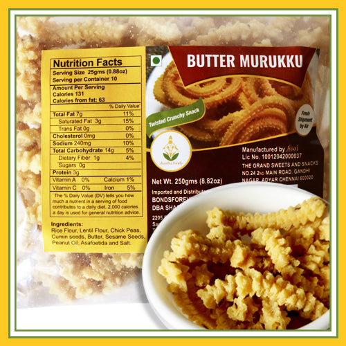 Grand Sweets & Snacks - Butter Murukku (250 Gms)