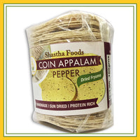 Shastha Coin Appalam Pepper (100 gms)