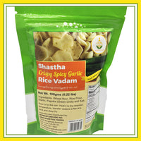 Shastha Crispy Spicy Garlic Rice Vadam (100 gms)