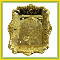 Navaratri Returns Gift - Plastic Golden Colour Plate