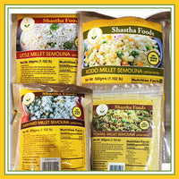 Millet Family - Healthy Choice Combo B ( 3 Millet Grains Packet included.) Choose any 2 Millet Upma Rava