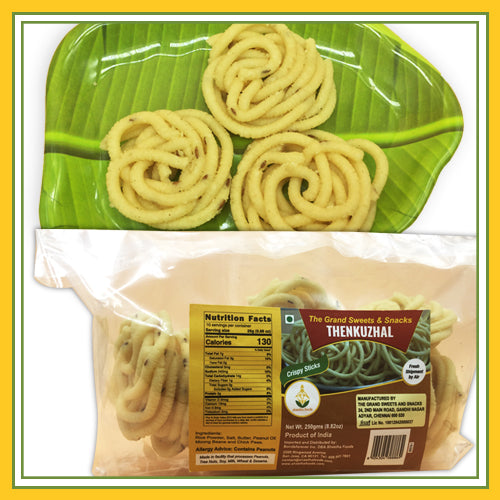 Grand Sweets & Snacks - Thenkuzhal (250 Gms)