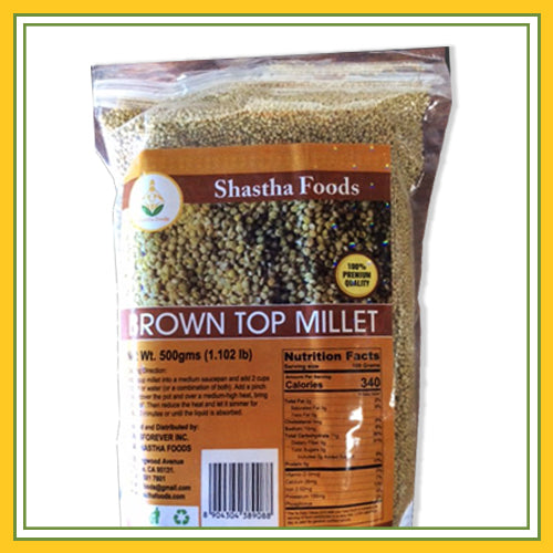 Shastha - Brown Top / Browntop Millet - 500g (1.1 Lbs)