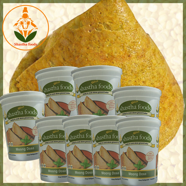 Shastha Pesarttu (Moong Dal) Dosa Batter 32oz (Pack of 8)
