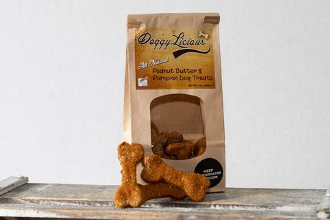 8oz. Peanut Butter & Pumpkin Dog Treats