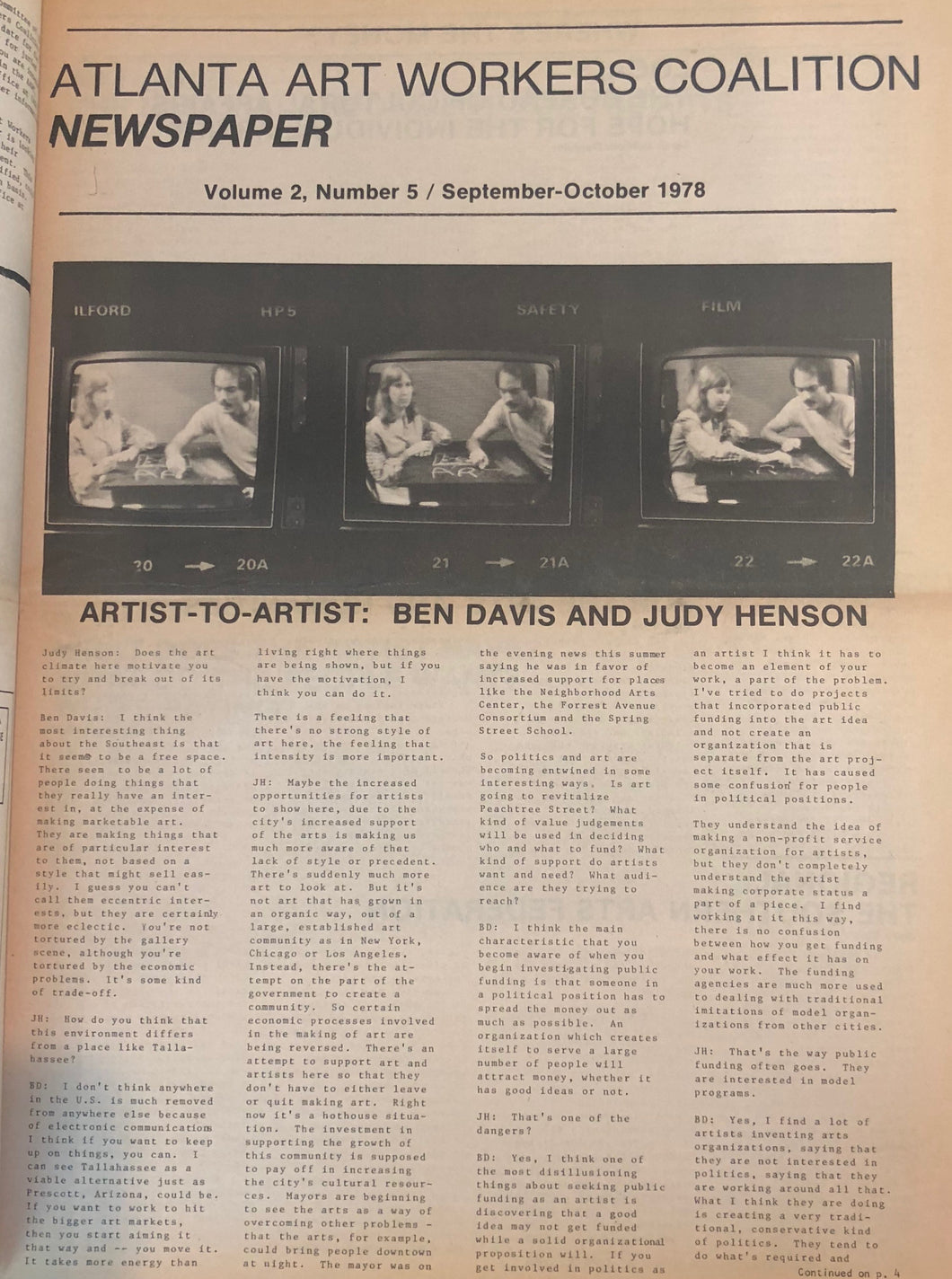 ART PAPERS 02.05 - Sept/Oct 1978 - SOLD OUT