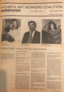 ART PAPERS 02.03 - May/June 1978 - SOLD OUT