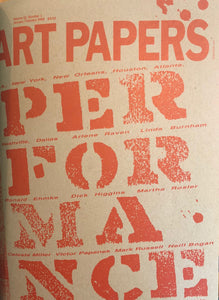 ART PAPERS 12.01 - Jan/Feb 1988 - SOLD OUT