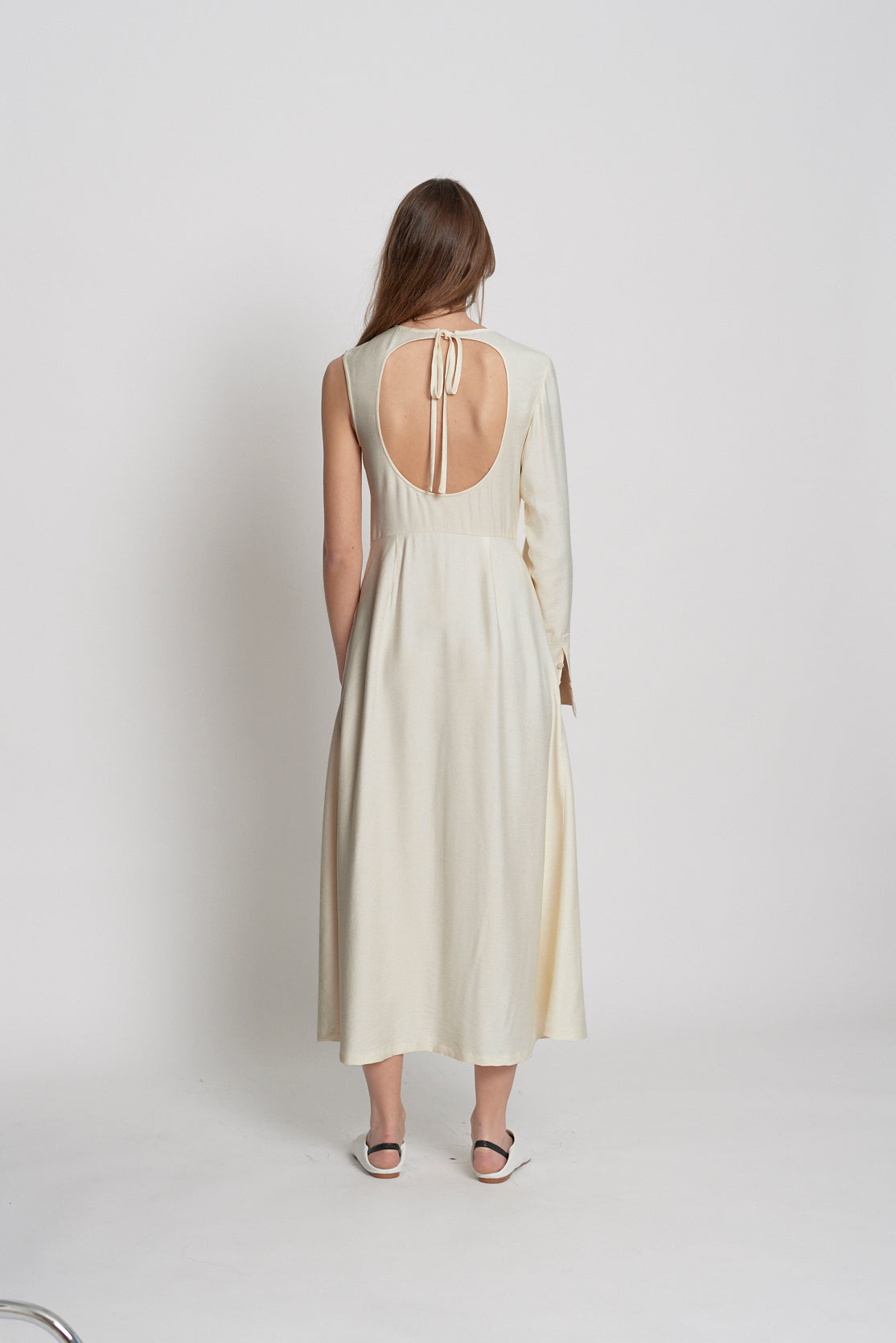 One Shoulder Dress (Antique Dark Ivory)