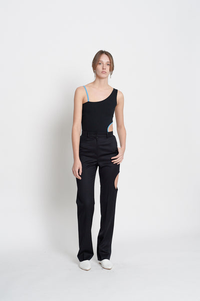 Cotton Bodysuit (Black)