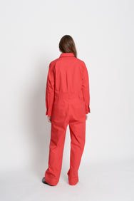 Cotton Jumpsuit (Red)