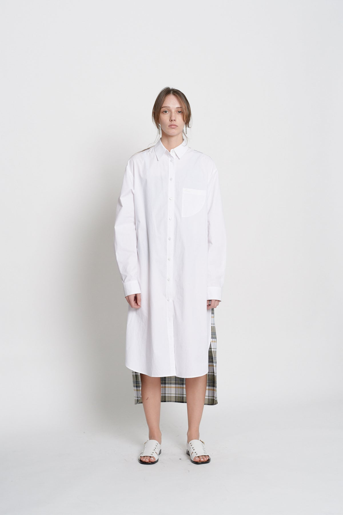 Long Shirt Dress (Check)