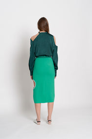Off Shoulder Blouse (Green)