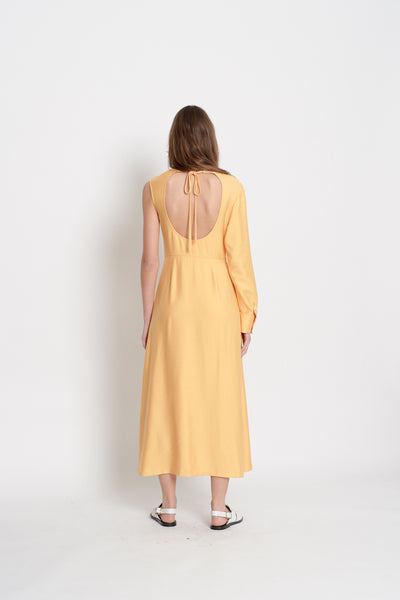One Shoulder Dress (Yellow)