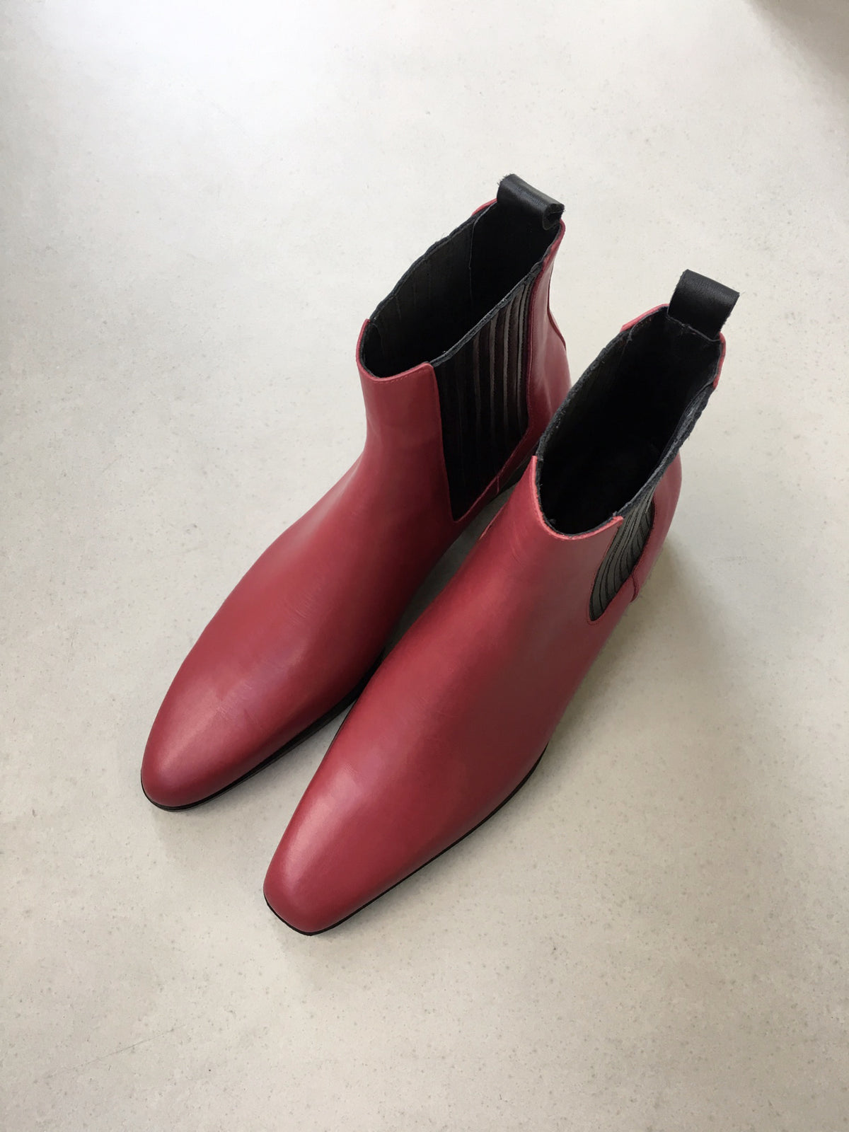Unbalanced Ankle Boots(Red)